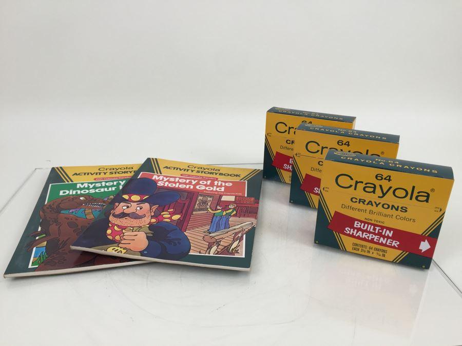 crayola crayons and crayola activity books new old stock