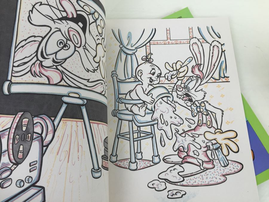 2) Who Framed Roger Rabbit Paint With Water Books New Old Stock Walt ...