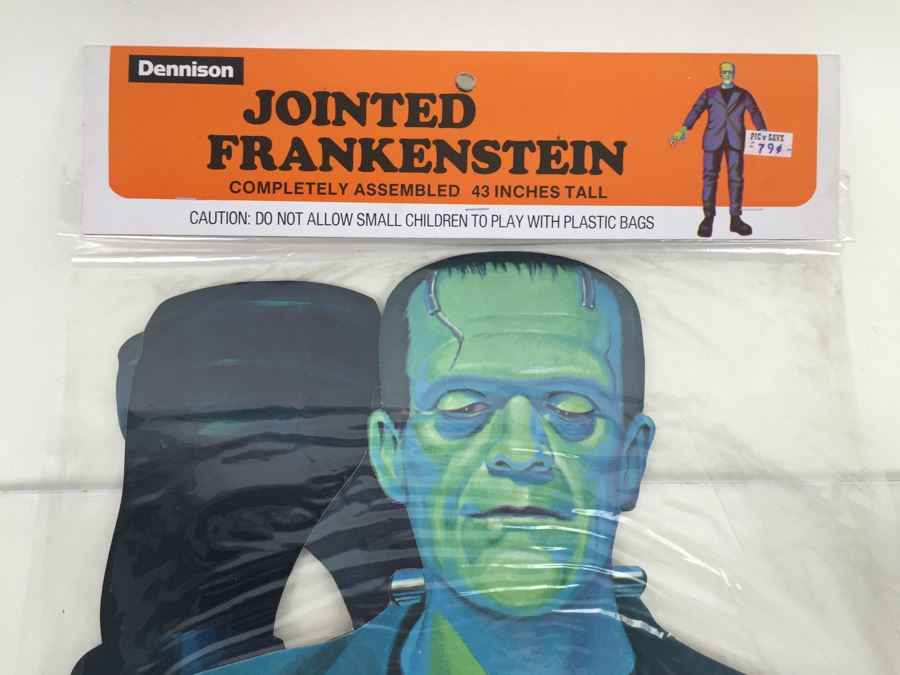vintage jointed frankenstein halloween decorations new in packaging from topstone photo 2 - Vintage Halloween Decorations For Sale