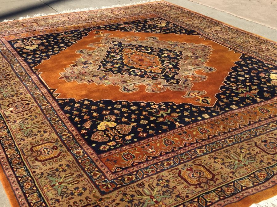 Stunning Large 12 X 9 Wood Hand Woven Rug By Pande Cameron Of New York Rusty
