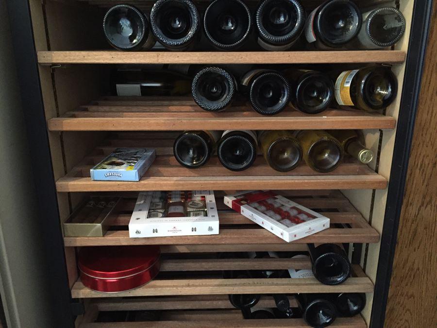 Vinotheque Wine Cellar Cabinet Lockable With Keys Sold