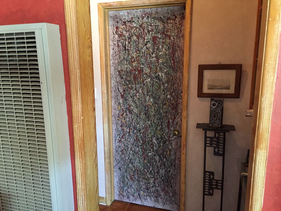 One Of A Kind Karen Dugan Painted Door Drip Paint In Style Of Jackson Pollock [ & One Of A Kind Karen Dugan Painted Door Drip Paint In Style Of ...