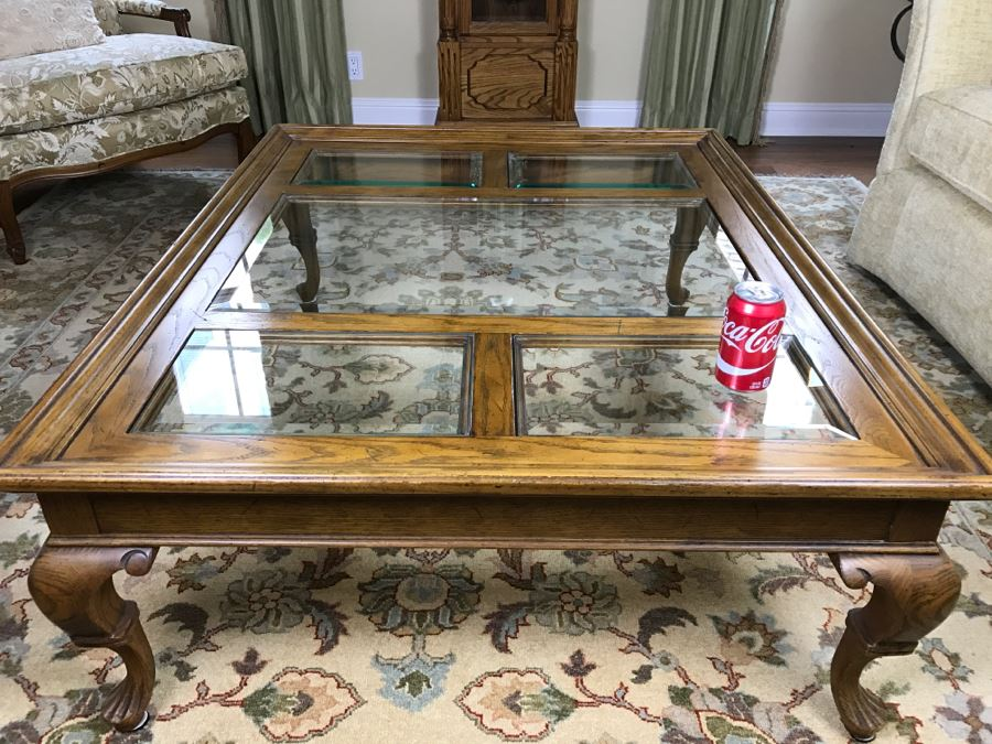 Drexel Heritage Wood And Glass Coffee Table [Photo 1]