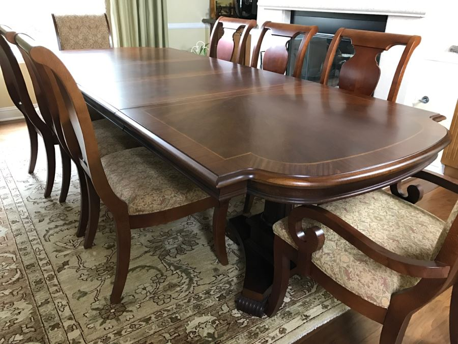 Formal Dining Table With Two Leaves And