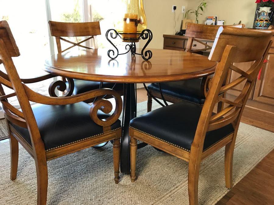 Maple Round Kitchen Table With 4 Chairs By Milling Road A