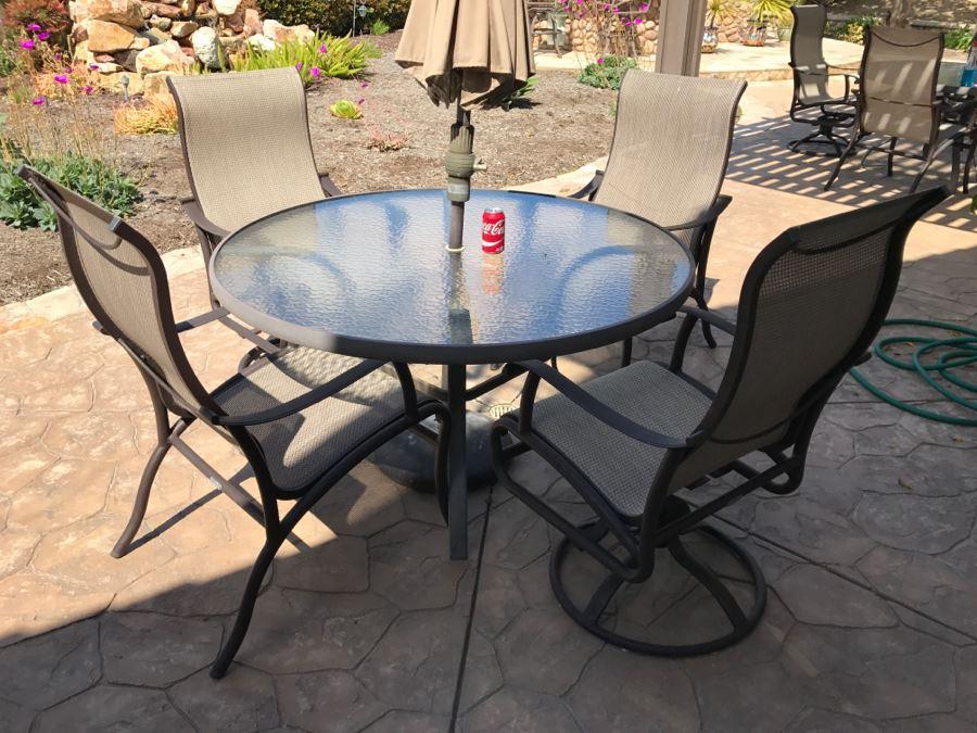 Mallin High End Aluminum Outdoor Patio Furniture Set - 4 ...