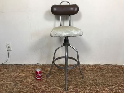 Vintage Industrial Bar Stool Drafting Chair