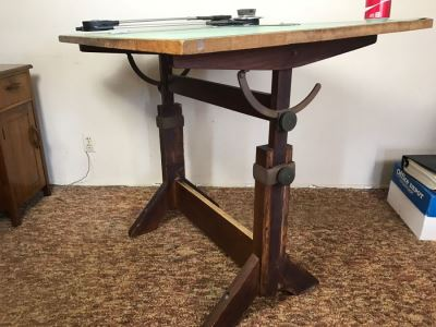 Vintage Custom Adjustable Drafting Table