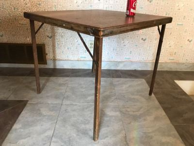 Vintage Wooden Card Table