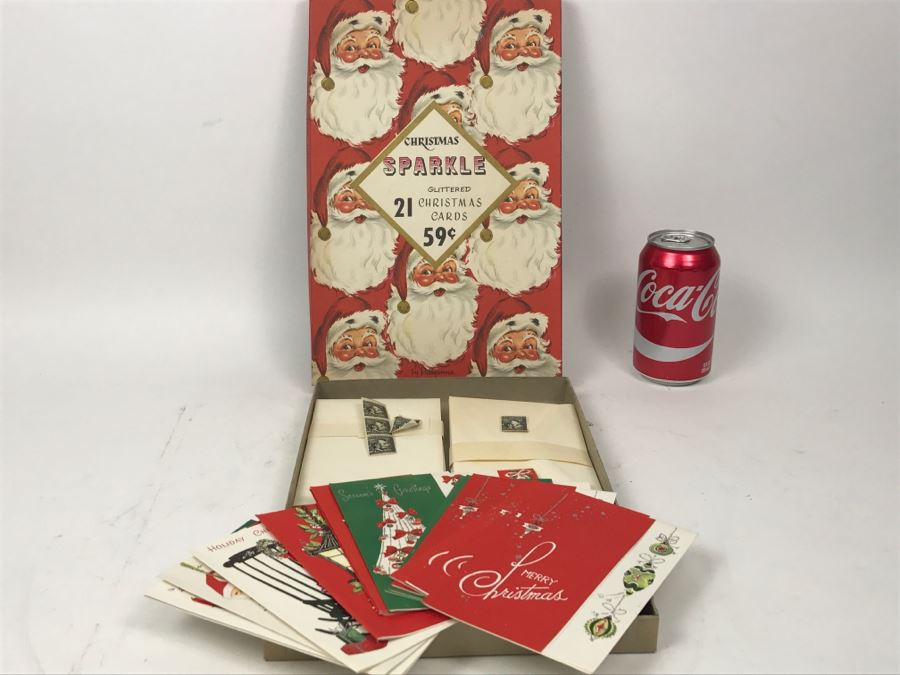 Vintage Christmas Sparkle Christmas Cards Plus Vintage Lincoln Mint ...