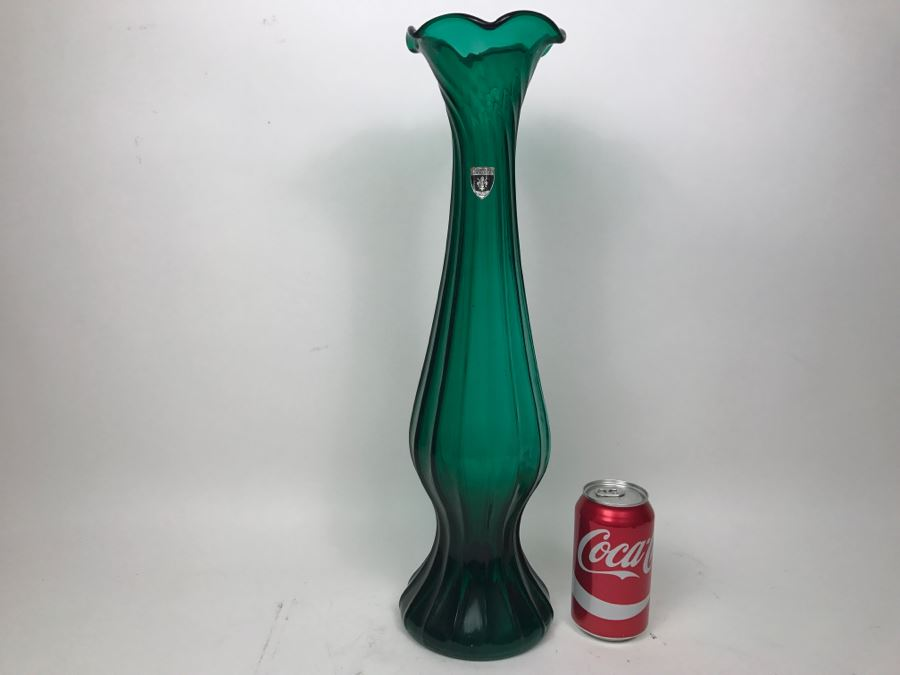 Florentine Original Tall Green Vase Made In Italy