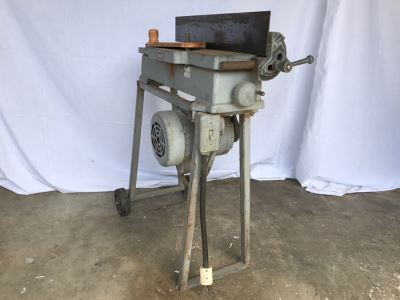 Vintage Mid-Century Craftsman SEARS 4' Jointer Woodworking Tool On Steel Stand With Casters Model Number 103.23220