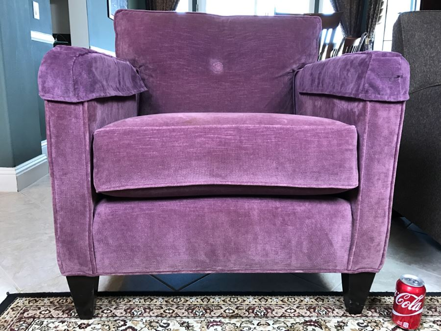 Nice ETHAN ALLEN Light Purple Armchair   Matches Sofa In This Sale [Photo 2]