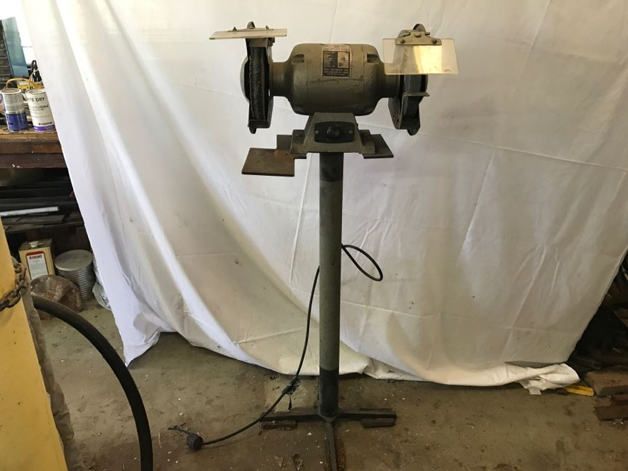 Heavy Duty Ball Bearing Electric Bench Grinder With Stand