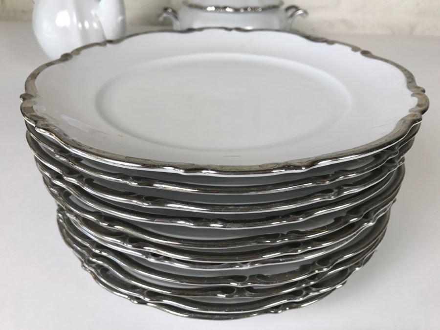 Classy China Set 79 Pieces Mitterteich Bavaria Platinum