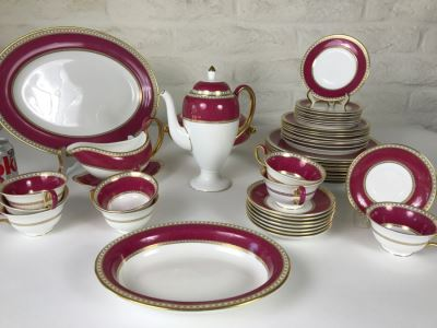 Classy Wedgwood Bone China Set ~46 Pieces Ulander Made In England