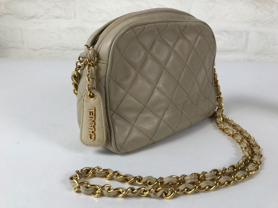Vintage CHANEL Light Brown Handbag Purse [Photo 1]