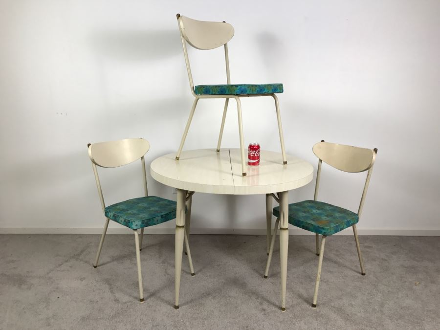 Vintage Mid Century Modern Metalcraft Set Of 3 Chairs With