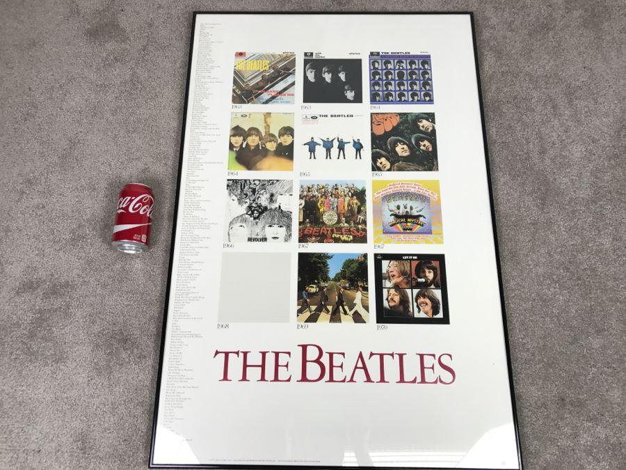 The Beatles Framed Poster 1987 Apple Corps Ltd