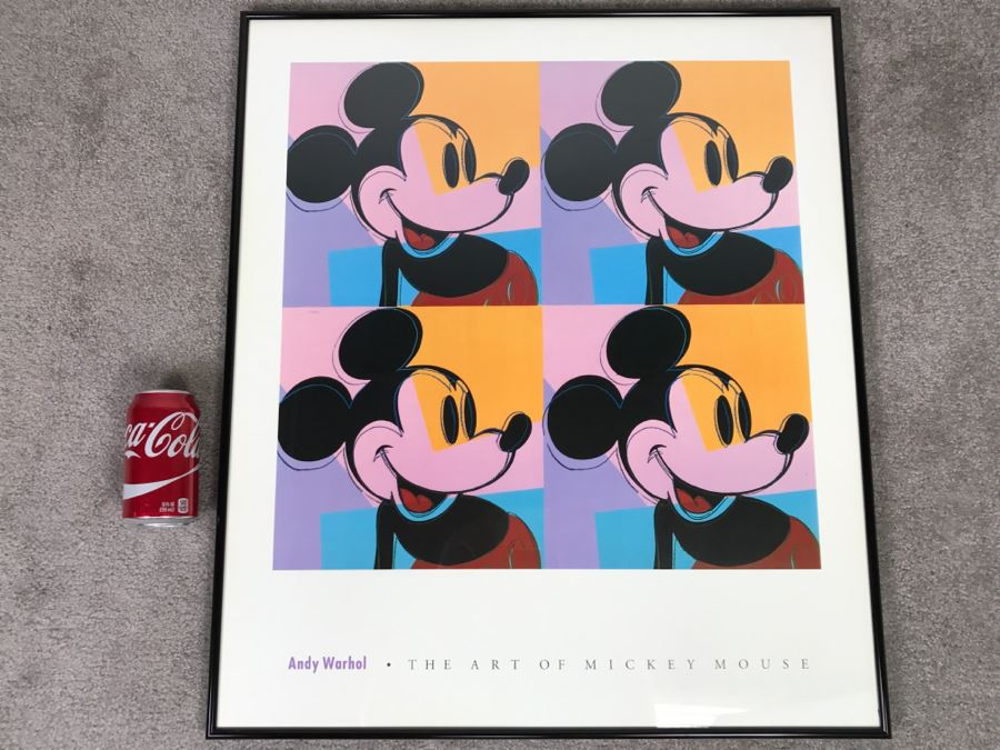 Andy Warhol The Art Of Mickey Mouse Framed Print Poster