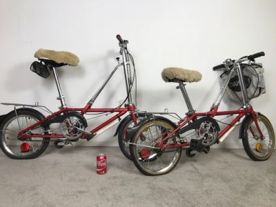 PAIR Of Vintage Dahon Folding Bikes Bicycles Carson, CA With Accesories Shown