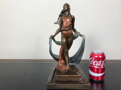 Limited Edition Bronze Sculpture Titled 'Bacchanal' By Rosan 1988 101 Of 300 13 3/4' Tall With COA Estimate $3,000