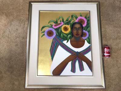 Original Beautiful Painting By Nivia Gonzalez 35' X 41' Estimate $1,000-$1,500 She Recently Passed June 2017
