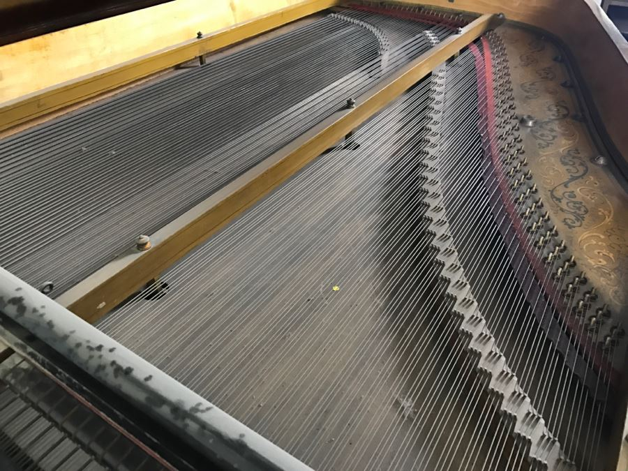 Late 19th Century Baby Grand Piano With Ivory Keys By
