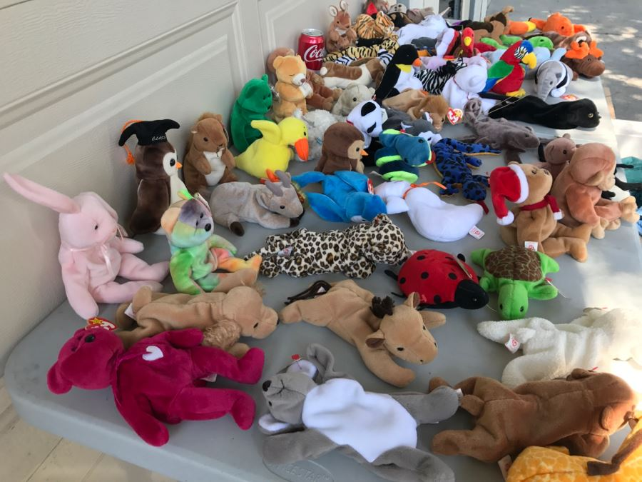 Huge Collection Of Ty Beanie Baby Dolls