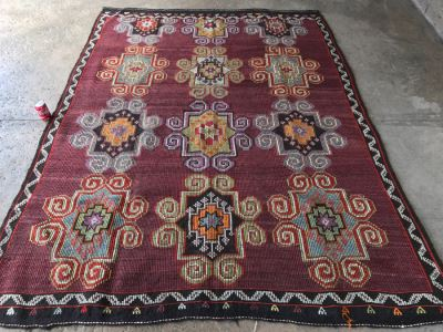 Vintage Turkish Kilim Rug 6'10' X 9'1'
