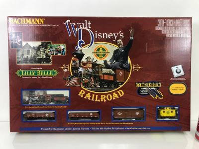 Collectible BACHMANN Walt Disney's Railroad Train Set Featuring Lilly Belle Modelled After Walt Disney's Personal Carolwood Pacific Railroad At Walt's Home Signed By Model Train Designer