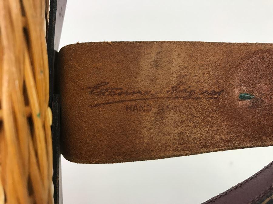 Vintage Wicker Etienne Aigner Handbag