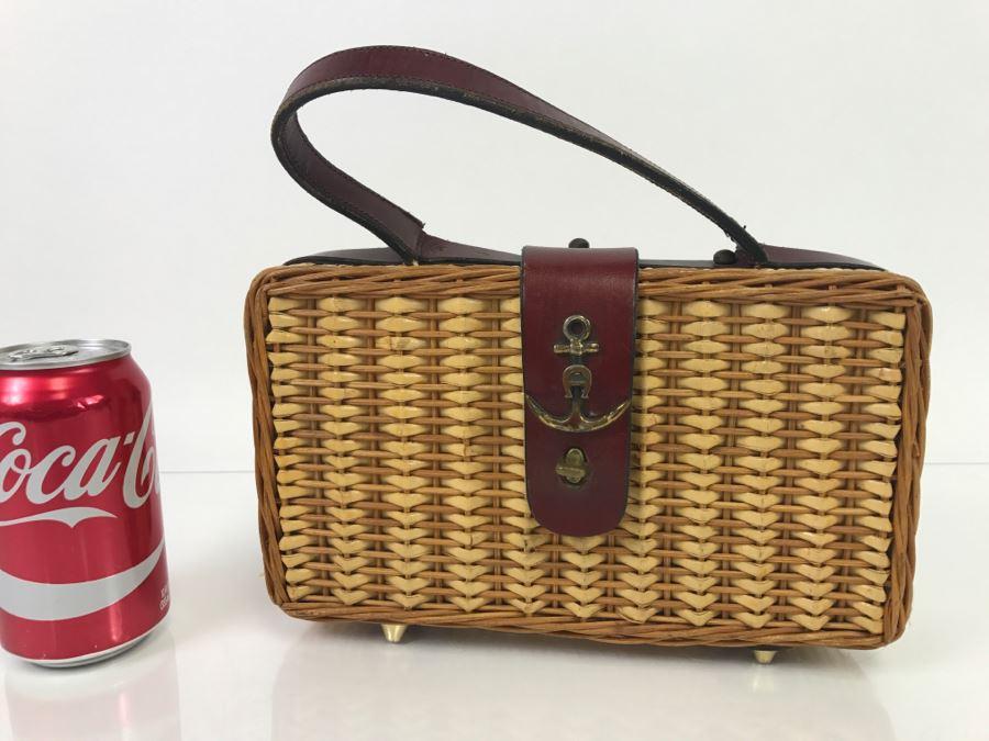 Vintage Wicker Etienne Aigner Handbag [Photo 1]