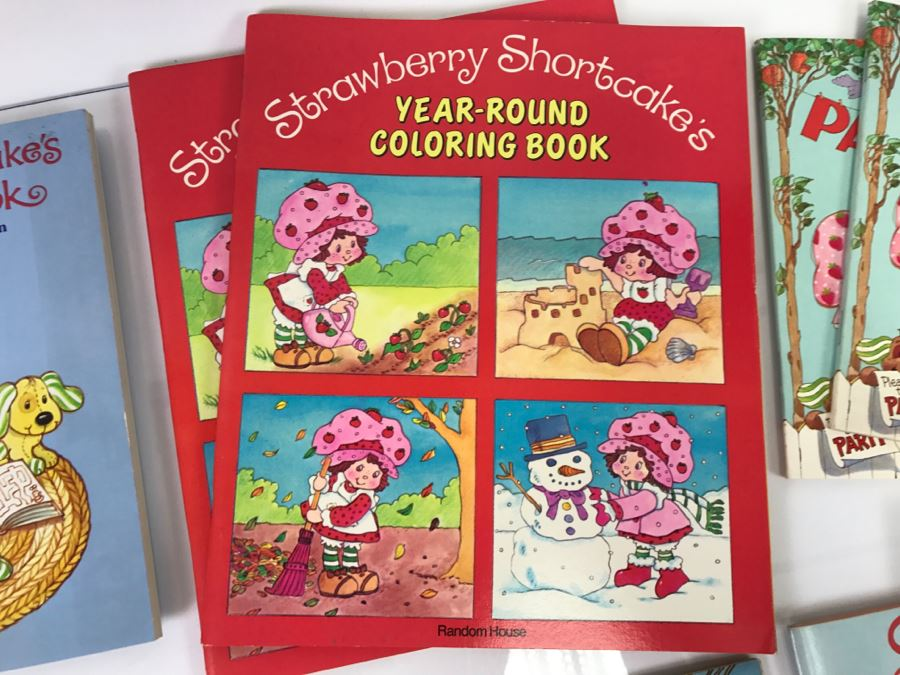 - 12) Collection Of Strawberry Shortcake Coloring Books And Books New Old  Stock