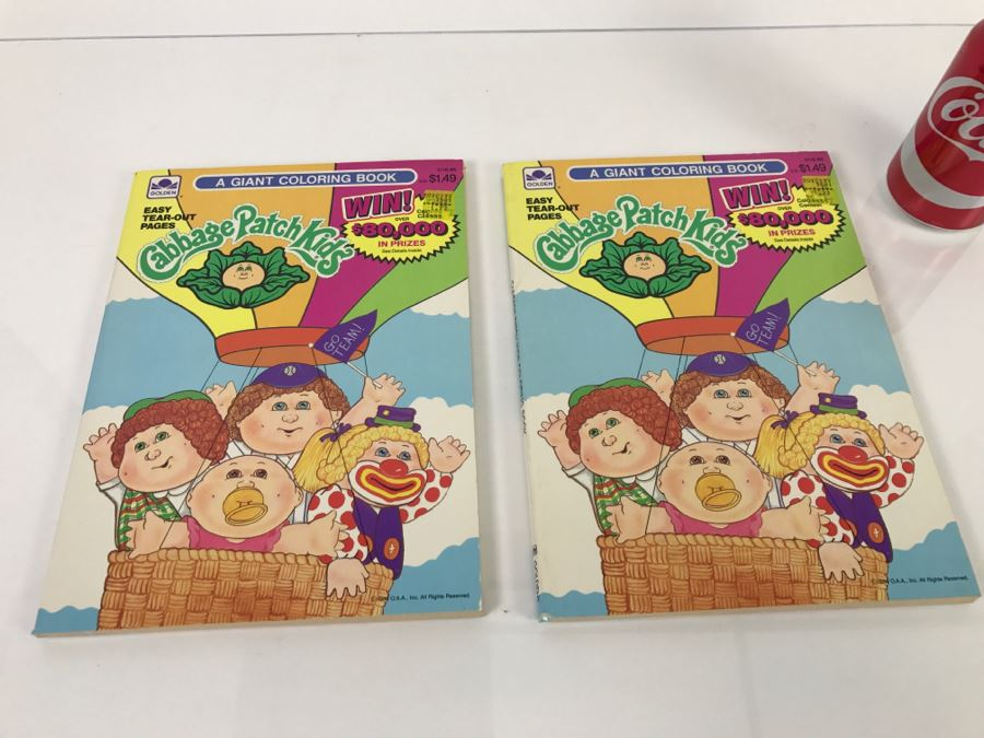 2) Cabbage Patch Kids Giant Coloring Book New Old Stock