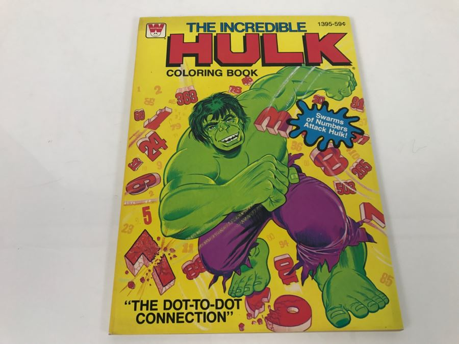Vintage 1979 The Incredible HULK Coloring Book Marvel Comics New Old ...