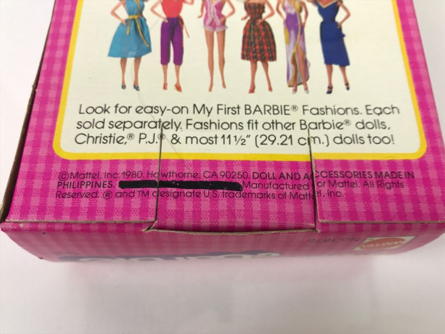Vintage 1980 My First Barbie Mattel 1875 In Box