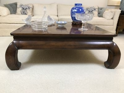 Square Chinoiserie Wooden Coffee Table