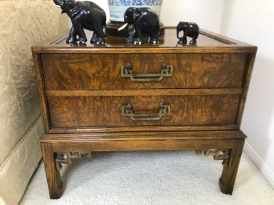 HEKMAN Chinoiserie 2-Drawer Side Table Nightstand