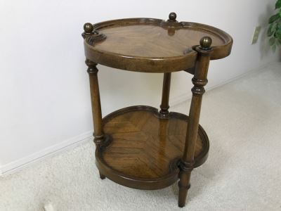 2-Tier Wooden Side Table