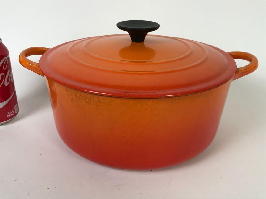 Vintage Orange Le Creuset Enameled Cast Iron E 4 5 Quart