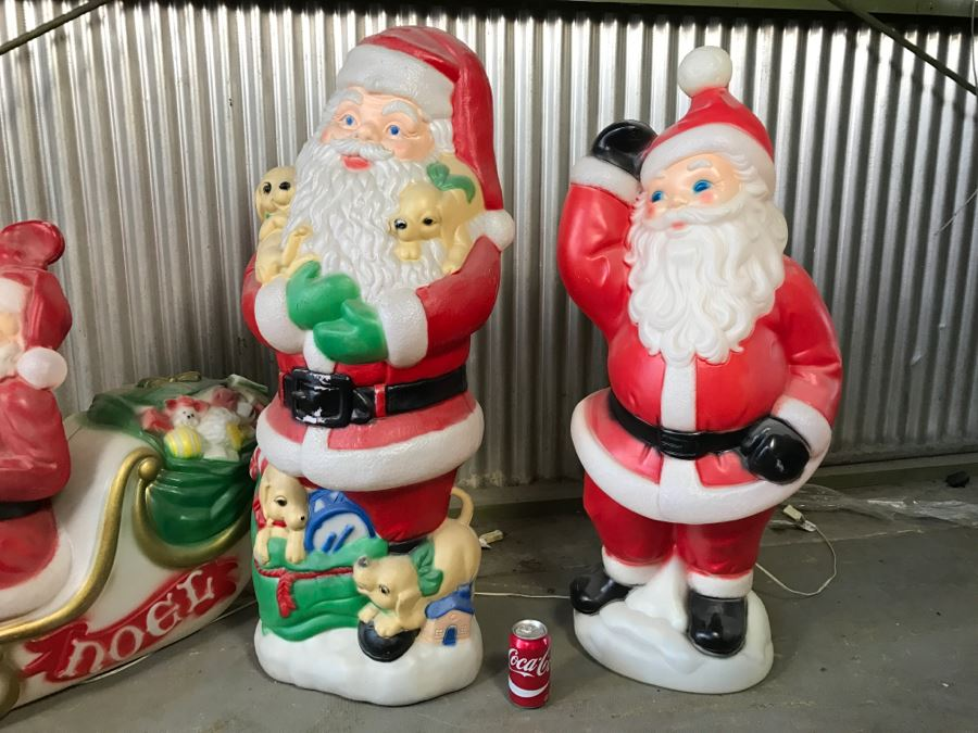 Collection Of Plastic Outdoor Christmas Lawn Ornaments ...