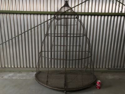 Large Footed Metal Birdcage