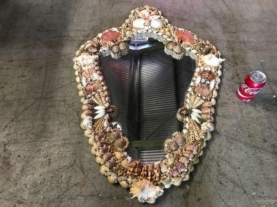 Stunning Seashell Wall Mirror