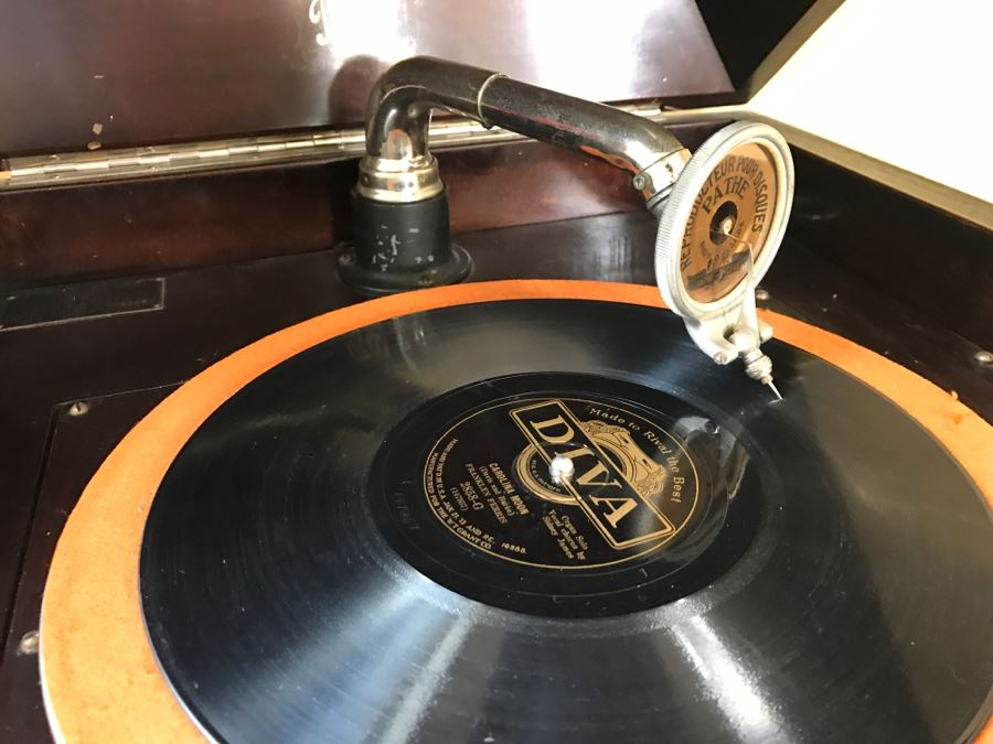 Working Pathe Freres Phonograph Co Model Xii No 1343 Ny