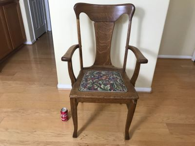 Antique Tiger Oak Armchair