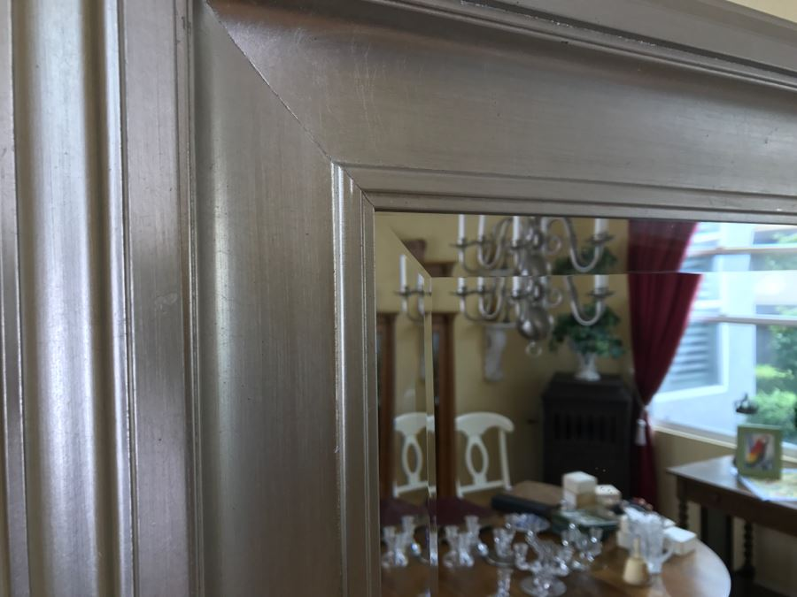 Nice Silver Beveled Glass Wall Mirror