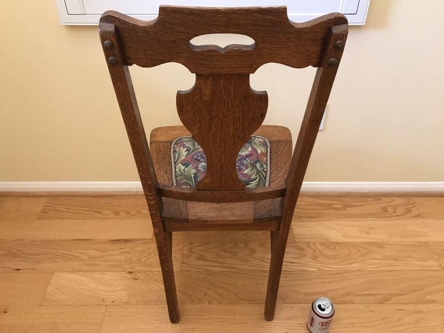 Brilliant Vintage Tiger Oak Dining Chair Short Links Chair Design For Home Short Linksinfo