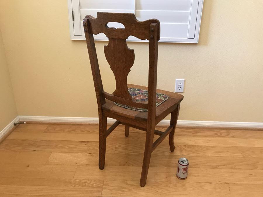 Vintage Tiger Oak Dining Chair