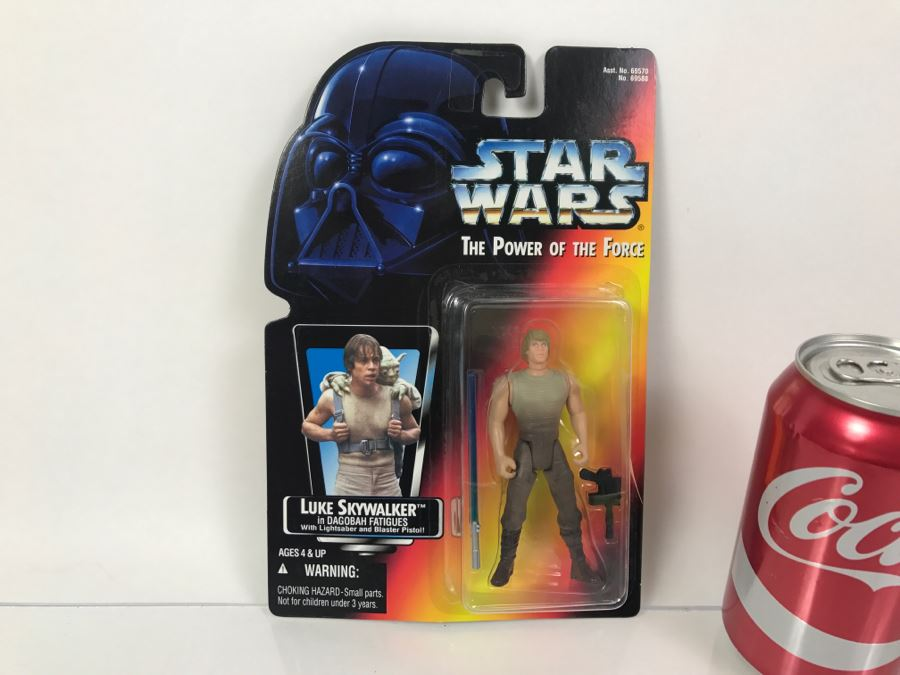 star wars the power of the force luke skywalker in dagobah fatigues kenner tonka hasbro 1995